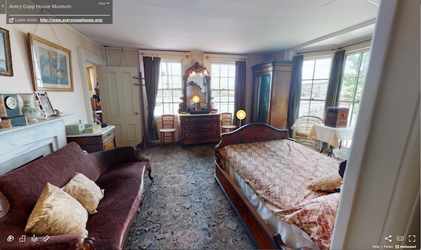 Screenshot of the virtual tour of Avery Copp House